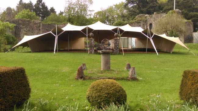 Stretch tent Usk castle may 2017