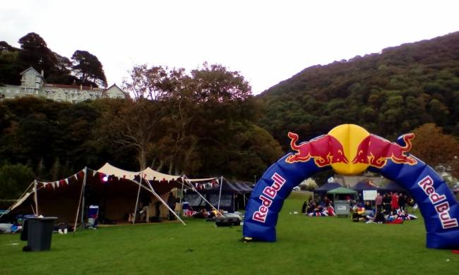 Stretch tent Red Bull